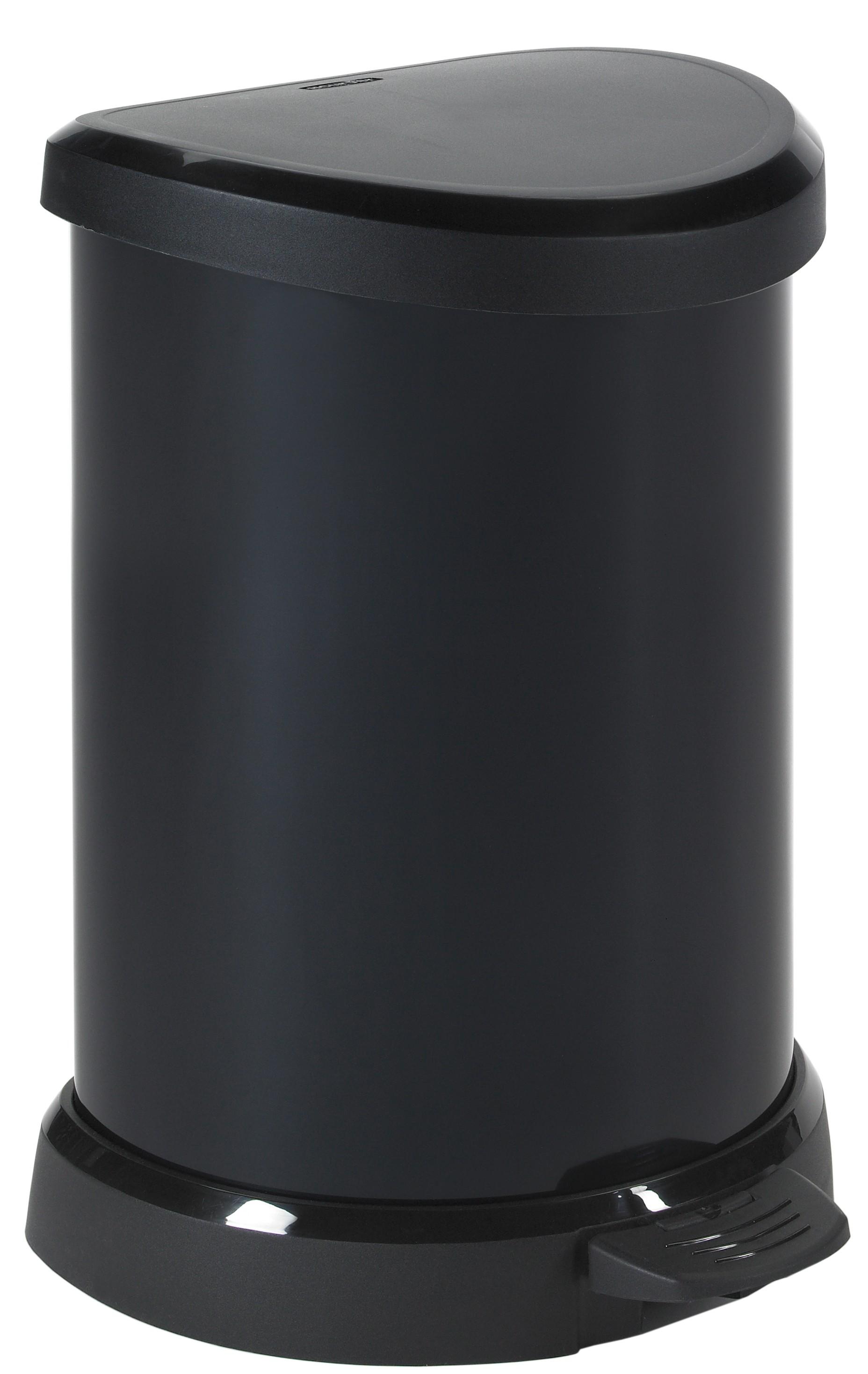πεντάλ απορριμάτων curver 20lit πλαστικό μαύρο home   αξεσουαρ κουζινας   δοχεία απορριμάτων