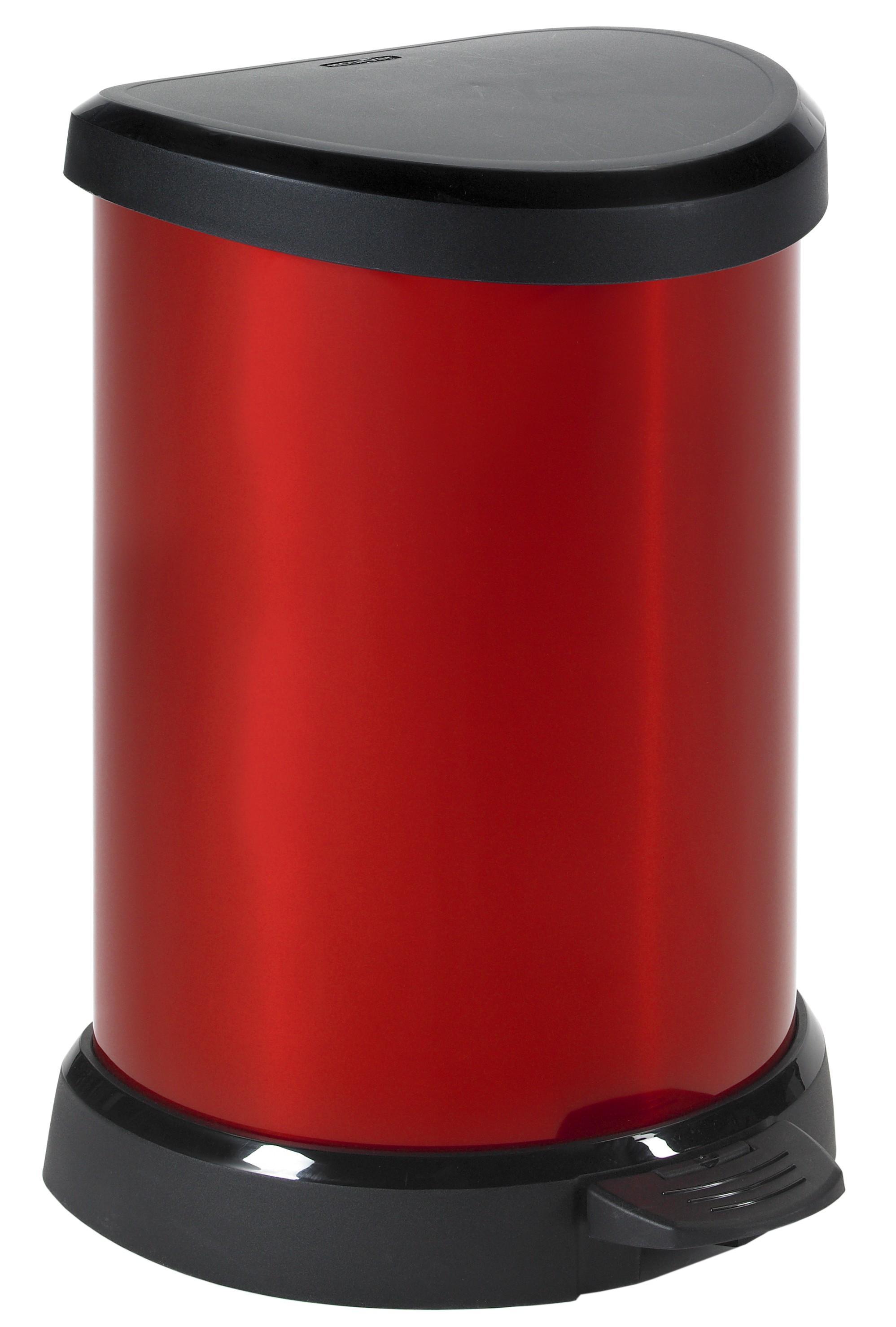 πεντάλ απορριμάτων curver 20lit πλαστικό κόκκινο home   αξεσουαρ κουζινας   δοχεία απορριμάτων