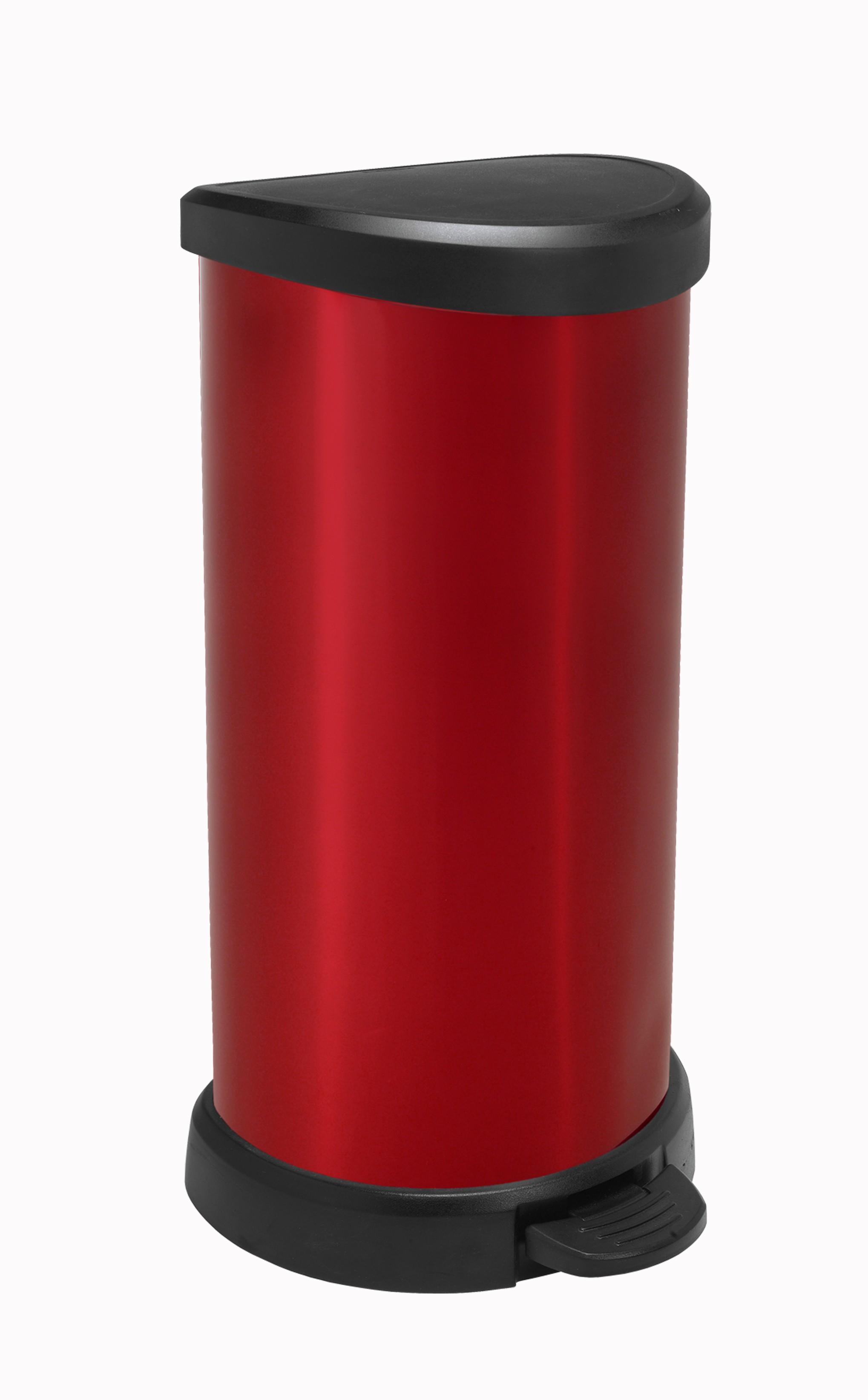 πεντάλ απορριμάτων curver 40lit πλαστικό κόκκινο home   αξεσουαρ κουζινας   δοχεία απορριμάτων