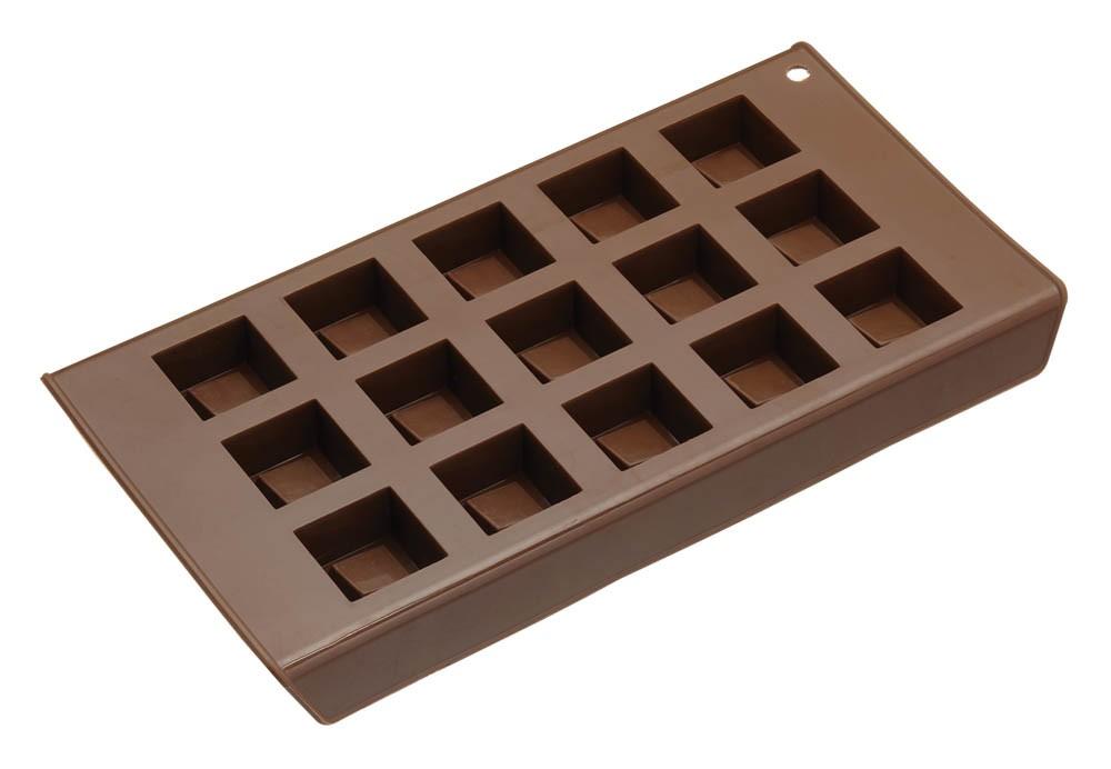 φόρμα σιλικόνης για σοκολατάκια τετράγωνη sweetly does it home   ζαχαροπλαστικη   φόρμες σιλικόνης
