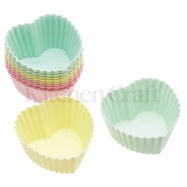 φόρμες σιλικόνης για cup cake 7cm καρδιά 12 τεμάχια sweetly does it home   ζαχαροπλαστικη   φόρμες σιλικόνης