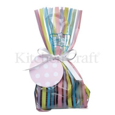 σακουλάκια για γλυκά ριγέ σετ 12 τεμάχια sweetly does it home   ζαχαροπλαστικη   εργαλεία ζαχαροπλαστικής