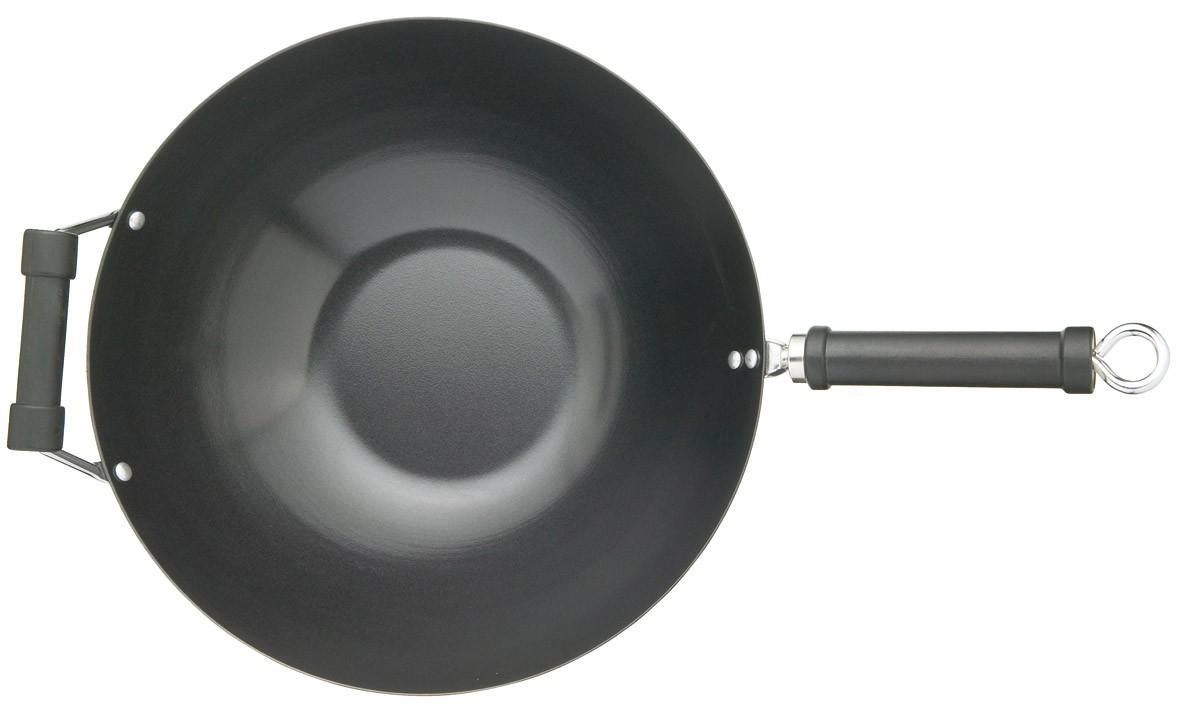 τηγάνι wok kitchencraft 35,5cm home   σκευη μαγειρικης   τηγάνια