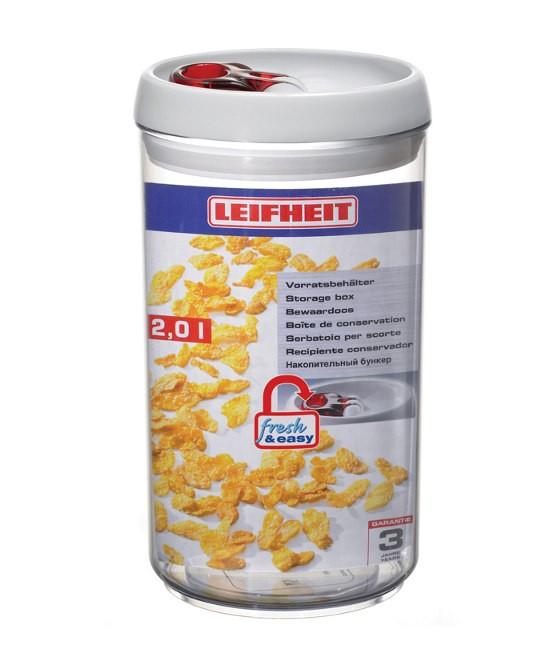 δοχείο τροφίμων πλαστικό fresh & easy leifheit 2,0l home   αξεσουαρ κουζινας   δοχεία τροφίμων   βάζα αποθήκευσης