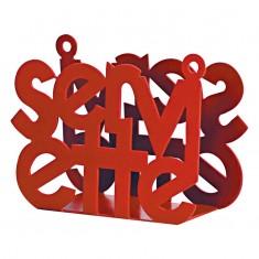 χαρτοπετσετοθήκη μεταλλική κόκκινη s&p 15cm x 11cm
