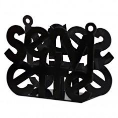 χαρτοπετσετοθήκη μεταλλική μαύρη s&p 15cm x 11cm