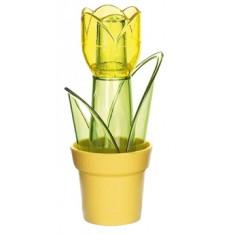 αλατιέρα tulipa πλαστική σετ 2 τεμάχια κίκτρινη