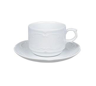 φλυτζάνι πορσελάνης cappuccino και πιατάκι flora 22cl 16cm home   ειδη cafe τσαϊ   κούπες   φλυτζάνια   cappucino
