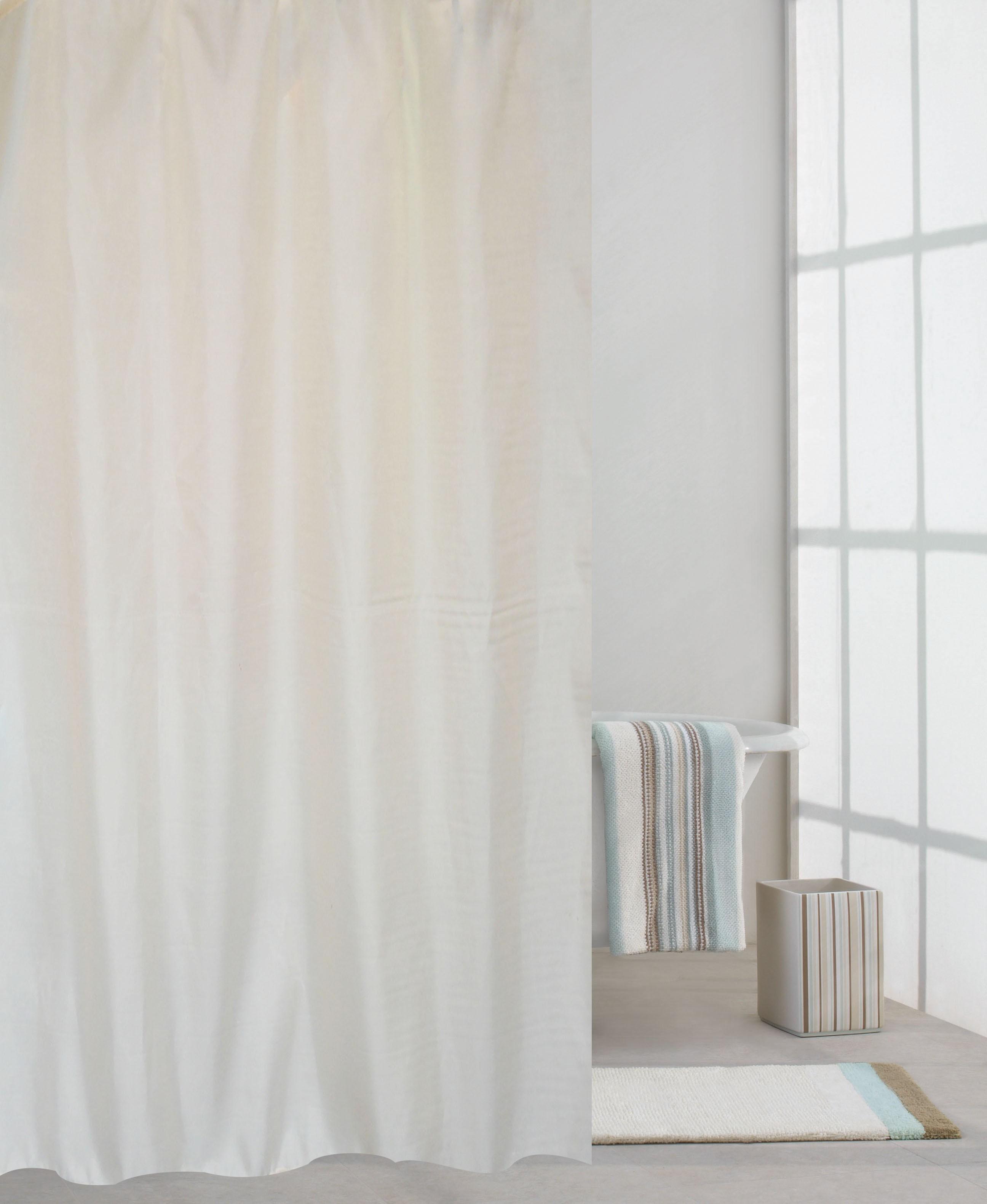 κουρτίνα μπάνιου υφασμάτινη μονόχρωμη λευκή 180x180cm home   ειδη μπανιου   κουρτίνες μπάνιου