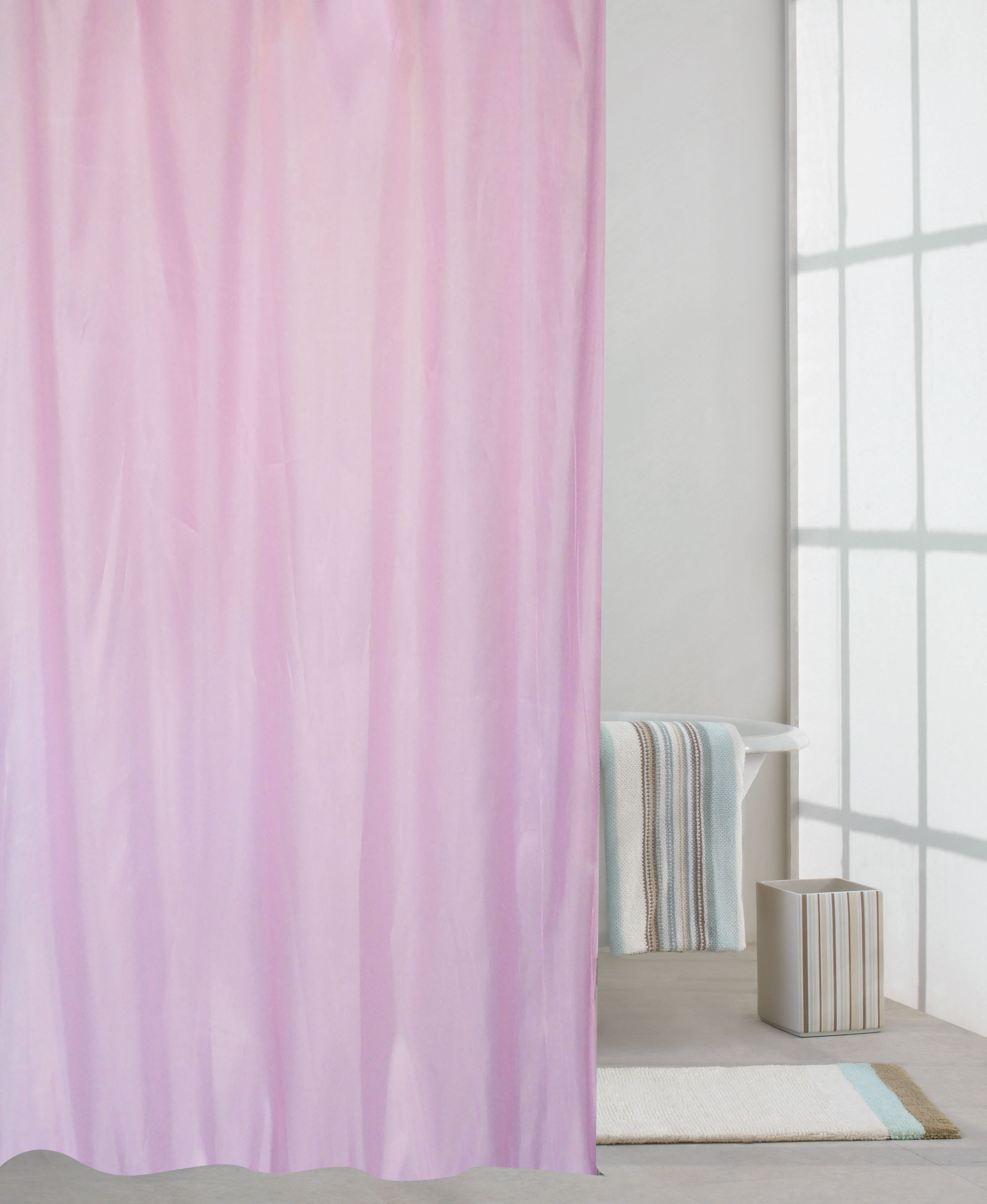 κουρτίνα μπανιου υφασμάτινη μονόχρωμη 180x180cm home   ειδη μπανιου   κουρτίνες μπάνιου