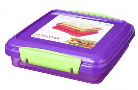 Δοχείο Τροφίμων Για τοστ μωβ BPA Free, SISTEMA. home   αξεσουαρ κουζινας   δοχεία τροφίμων   βάζα αποθήκευσης