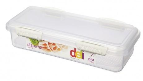 Δοχείο Τροφίμων BPA Free1,75l λευκό SISTEMA home   αξεσουαρ κουζινας   δοχεία τροφίμων   βάζα αποθήκευσης