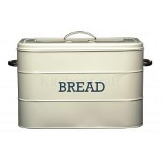 ψωμιέρα μεταλλική kitchencraft living nostalgia μπέζ