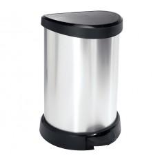 πεντάλ απορριμάτων curver 20lit πλαστικό ασημί