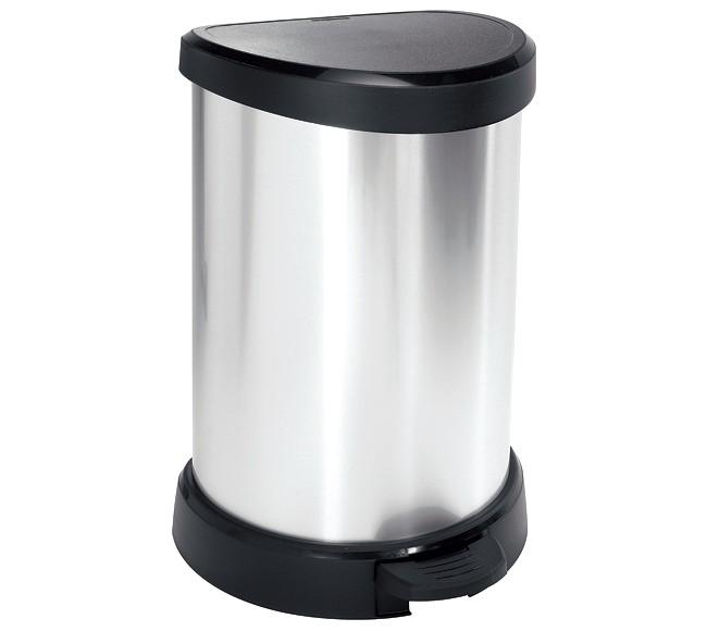 πεντάλ απορριμάτων curver 20lit πλαστικό ασημί home   αξεσουαρ κουζινας   δοχεία απορριμάτων
