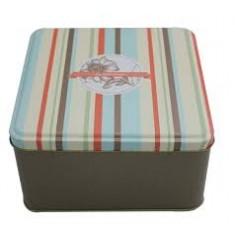 κουτί αποθήκευσης μεταλλικό τετράγωνο
