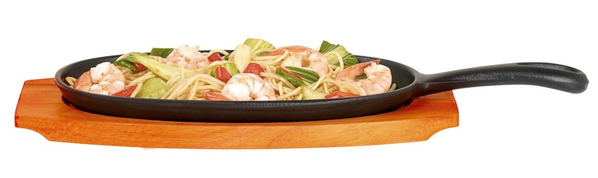 τηγάνι οβάλ μαντέμι με δίσκο σερβιρίσματος kitchencraft home   σκευη μαγειρικης   τηγάνια