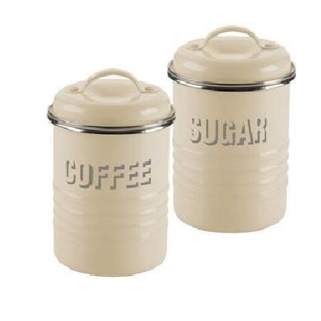 δοχεία σετ καφέ - ζάχαρη μεταλλικά μπέζ typhoon home   ειδη cafe τσαϊ   δοχεία καφε   ζάχαρης