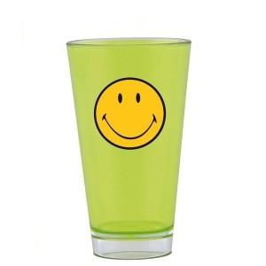 ποτήρι σωλήνα μελαμίνης zak designs smiley λαχανί 30mll home   ειδη σερβιρισματος   είδη bebe