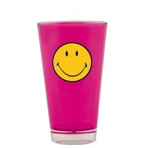 Ποτήρι Σωλήνα μελαμίνης zak designs smiley φούξια 330ml home   ειδη σερβιρισματος   είδη bebe