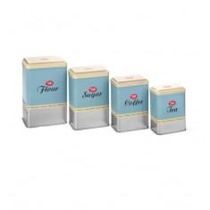 κουτιά αποθήκευσης tala μεταλλικά σετ 4 τεμάχια