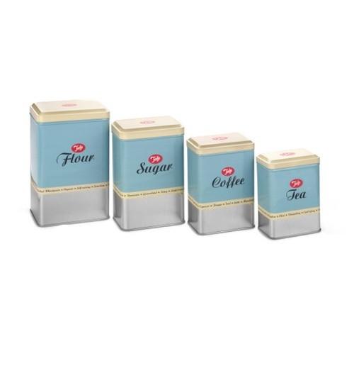 κουτιά αποθήκευσης tala μεταλλικά σετ 4 τεμάχια home   ειδη cafe τσαϊ   δοχεία καφε   ζάχαρης
