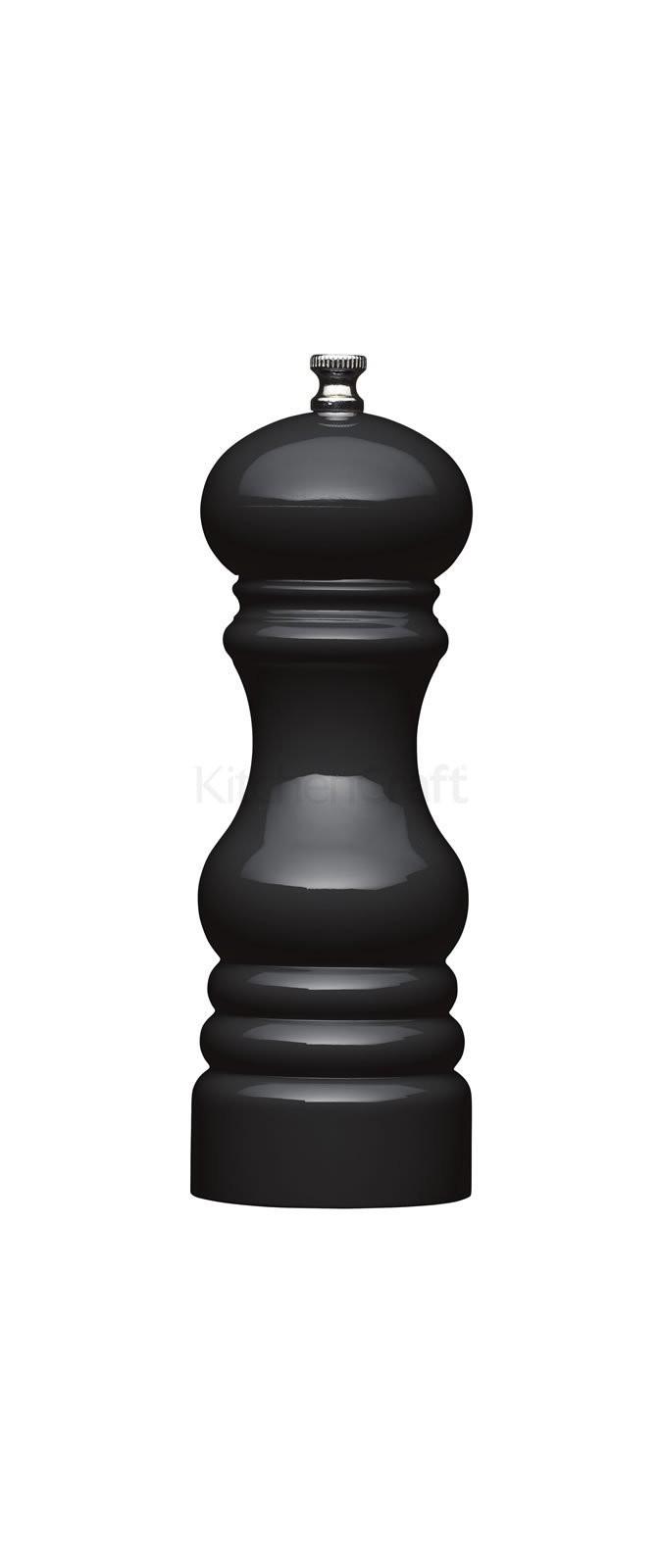 μύλος αλατοπίπερου masterclass ακρυλικός μαύρος 17cm home   αξεσουαρ κουζινας   μύλοι αλατοπίπερου