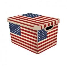 κουτί αποθήκευσης curver πλαστικό american flag