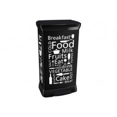 πεντάλ απορριμάτων curver 50lit kitchen μαύρος