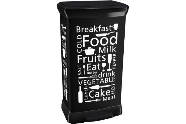 πεντάλ απορριμάτων curver 50lit kitchen μαύρος home   αξεσουαρ κουζινας   δοχεία απορριμάτων