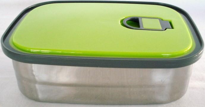 φαγητοδοχείο ανοξείδωτο 0,75 lit πράσινο home   αξεσουαρ κουζινας   δοχεία τροφίμων   βάζα αποθήκευσης