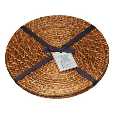 σουπλά bamboo rattan 35cm στρογγυλό masterclass home   αξεσουαρ κουζινας