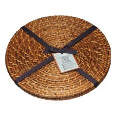 σουπλά bamboo rattan σετ 2 τεμάχια 28cm στρογγυλό masterclass