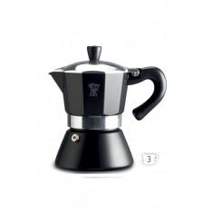 καφετιέρα για espresso pezzeti 3 φλυτζάνια μαύρη