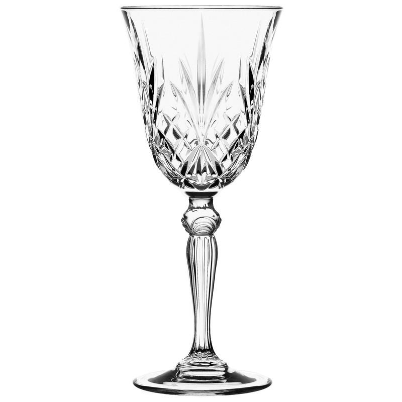Ποτήρι κρασιού Κρυστάλλινο Rcr 210ml Σετ 6 Τμχ Melodia home   ειδη σερβιρισματος   ποτήρια