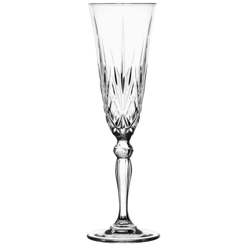 Ποτήρι Σαμπάνιας Κρυστάλλινο Rcr 160ml Σετ 6 Τμχ Melodia home   ειδη σερβιρισματος   ποτήρια