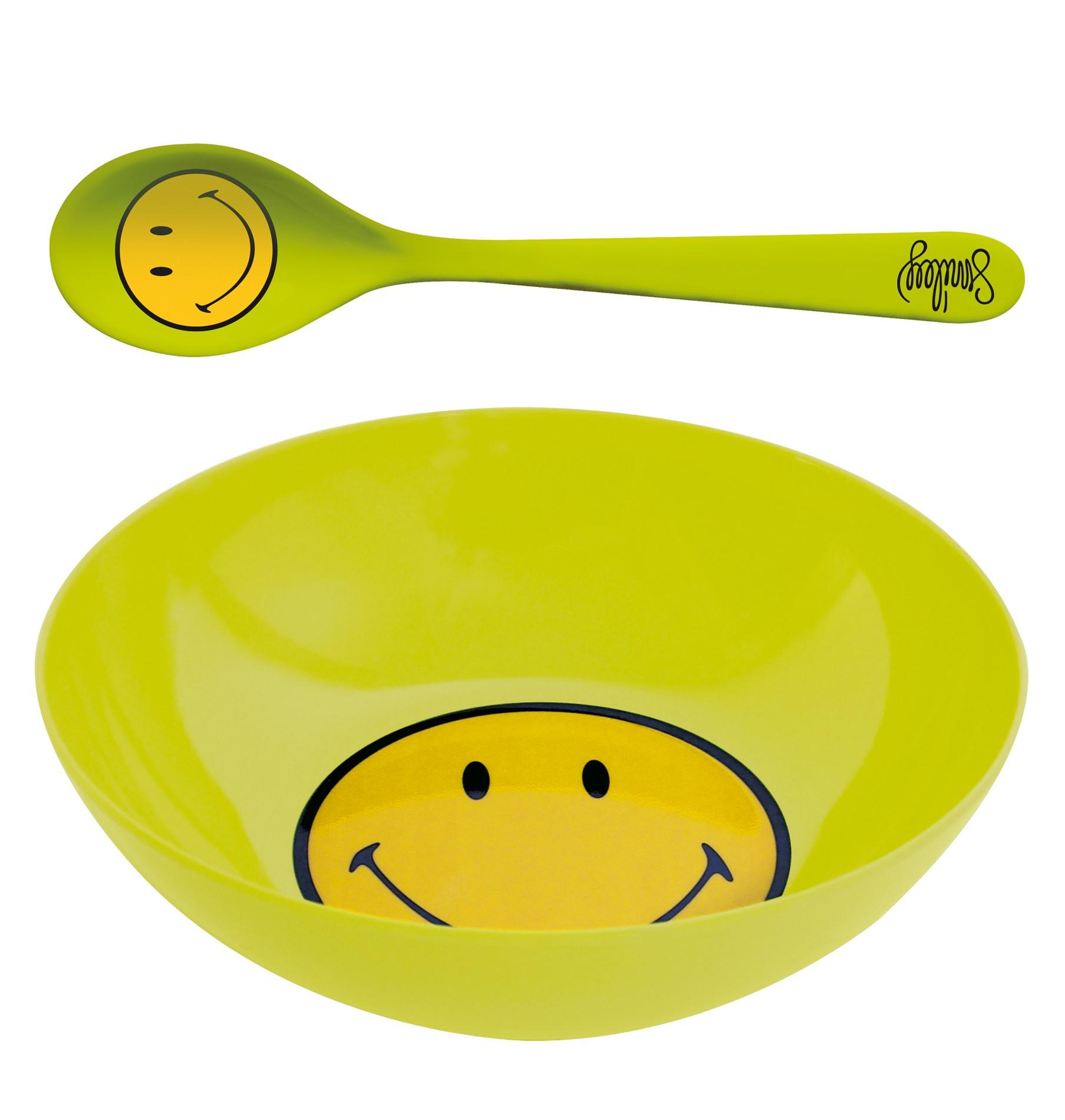 Σετ Πρωινού Smiley Μελαμίνης Zak Designs Λαχανί home   ειδη σερβιρισματος   είδη bebe