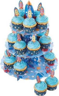 βάση παρουσίασης cup cake χάρτινη πύραυος kitchencraft home   ζαχαροπλαστικη   τουρτιέρα   θήκες cake
