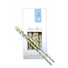 καλαμάκια χάρτιναaps λουλούδια 100 τεμάχια