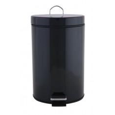 πεντάλ μεταλλικό στρογγυλό 7lt μαύρο