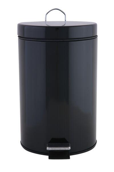 πεντάλ μεταλλικό στρογγυλό 7lt μαύρο home   ειδη μπανιου   πετάλ