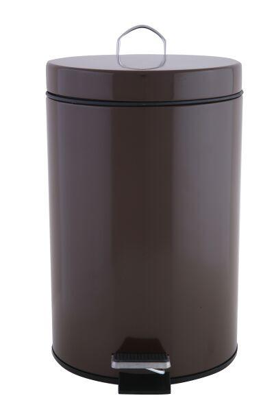 πεντάλ μεταλλικό στρογγυλό 7lit. καφέ home   ειδη μπανιου   πετάλ