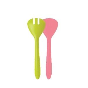 σετ σαλάτας zak designs wave λαχανί-ροζ 26CM home   ειδη σερβιρισματος   σετ σαλάτας