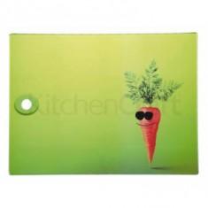 Επιφάνεια Κοπής Kitchencraft Γυάλινη Ορθογώνια 40cm X 30cm καρότο