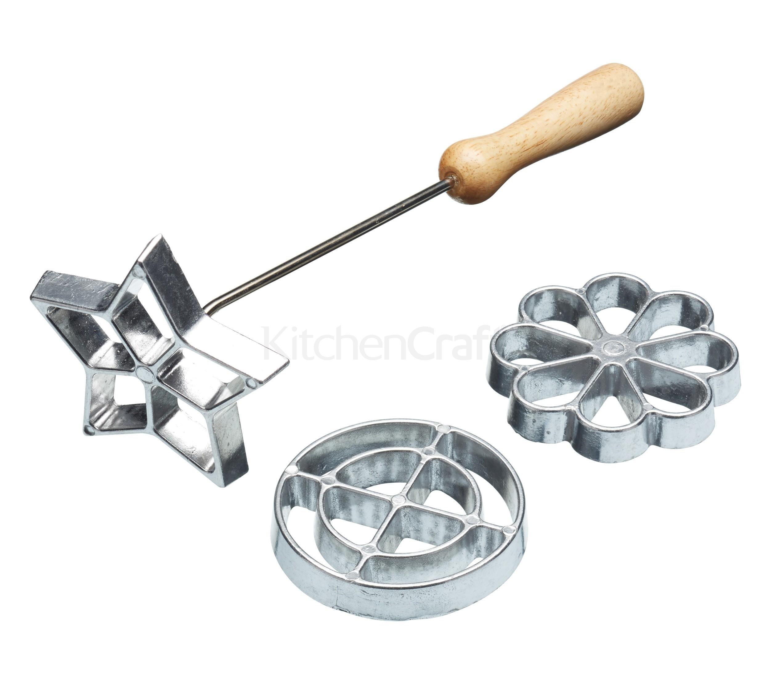 Εργαλείο Για Βάφλες-Λουκουμάδες-Ξεροτήγανα Με 3 Σχέδια kitchencraft home   ζαχαροπλαστικη   εργαλεία ζαχαροπλαστικής