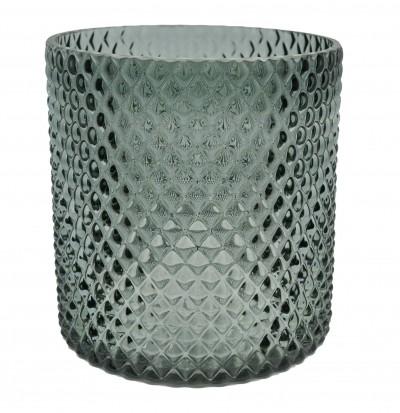 ανθοδοχείο γυάλινο γκρι 15cm home   κρυσταλλα  διακοσμηση   κρύσταλλα   βάζο