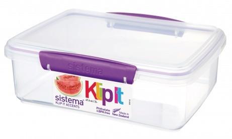 Δοχείο Τροφίμων μωβ BPA Free, 2L SISTEMA home   αξεσουαρ κουζινας   δοχεία τροφίμων   βάζα αποθήκευσης