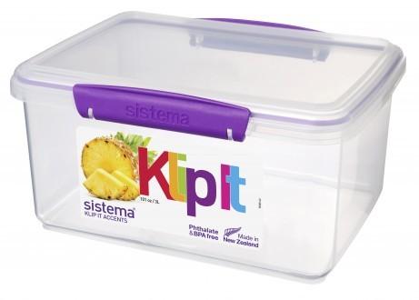 Δοχείο Τροφίμων μωβ 3L BPA Free, SISTEMA home   αξεσουαρ κουζινας   δοχεία τροφίμων   βάζα αποθήκευσης