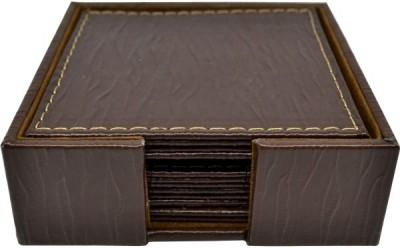 Σουβέρ Δερμάτινα κύμα σετ 6 τεμάχια τετράγωνα καφέ home   αξεσουαρ κουζινας   σουβέρ