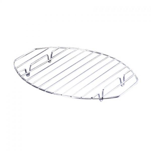 Σχάρα Οβάλ Ανοξείδωτη με βάσεις 36cm X 26cm home   σκευη μαγειρικης   γάστρες